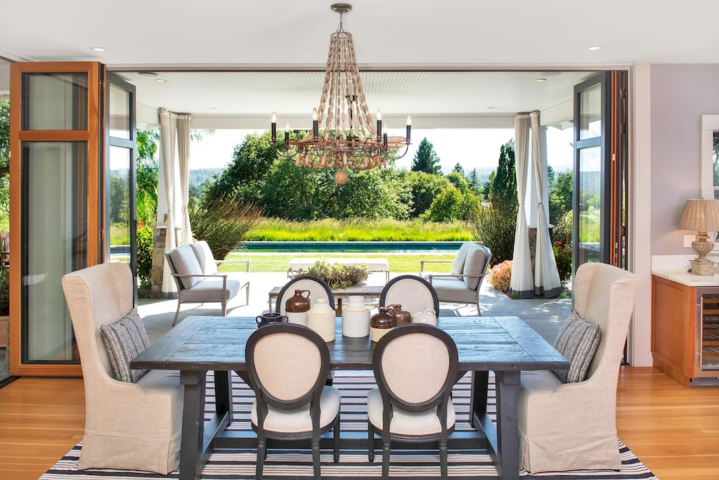 Dining Table Overlooking the Pool
