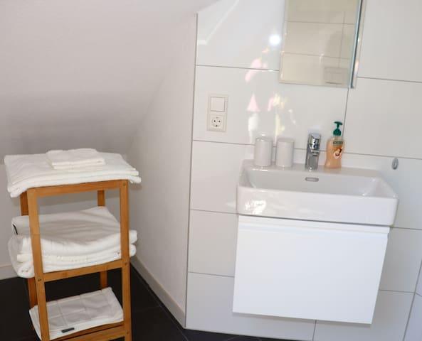 Haus Belchenwiese, (Kleines Wiesental), Dachwohnung Nr. 4, 22qm, 1 Schlafzimmer mit Doppelbett und Schlafcouch, max. 2 Personen