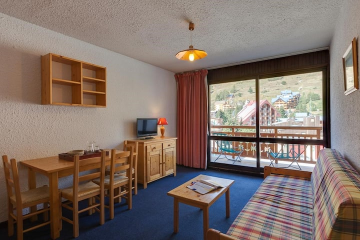 Appartement Confortable Près des Pistes | Kichenette Équipée + Parking Extérieur