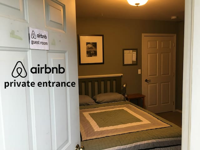 Private Entrance and Bathroom,  No Cleaning Fee