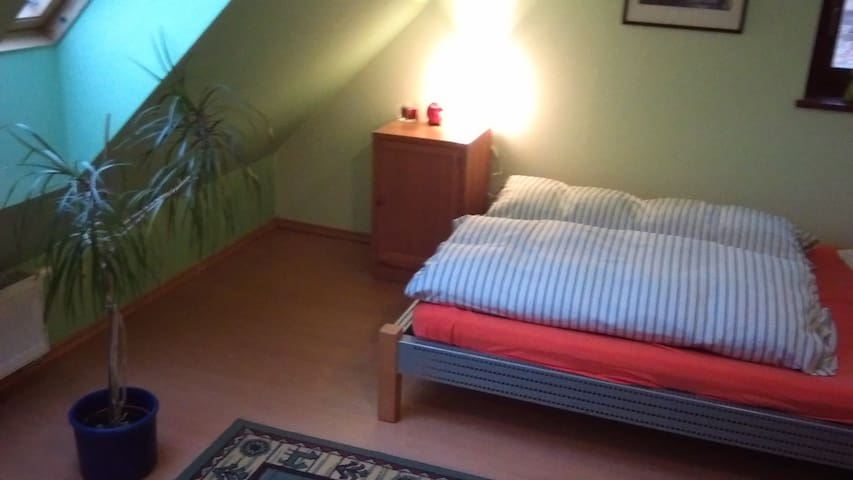 WHOLE FLOOR IN NICE NEW HOUSE FOR 5, WIFI, TERACE - Prague - Loft