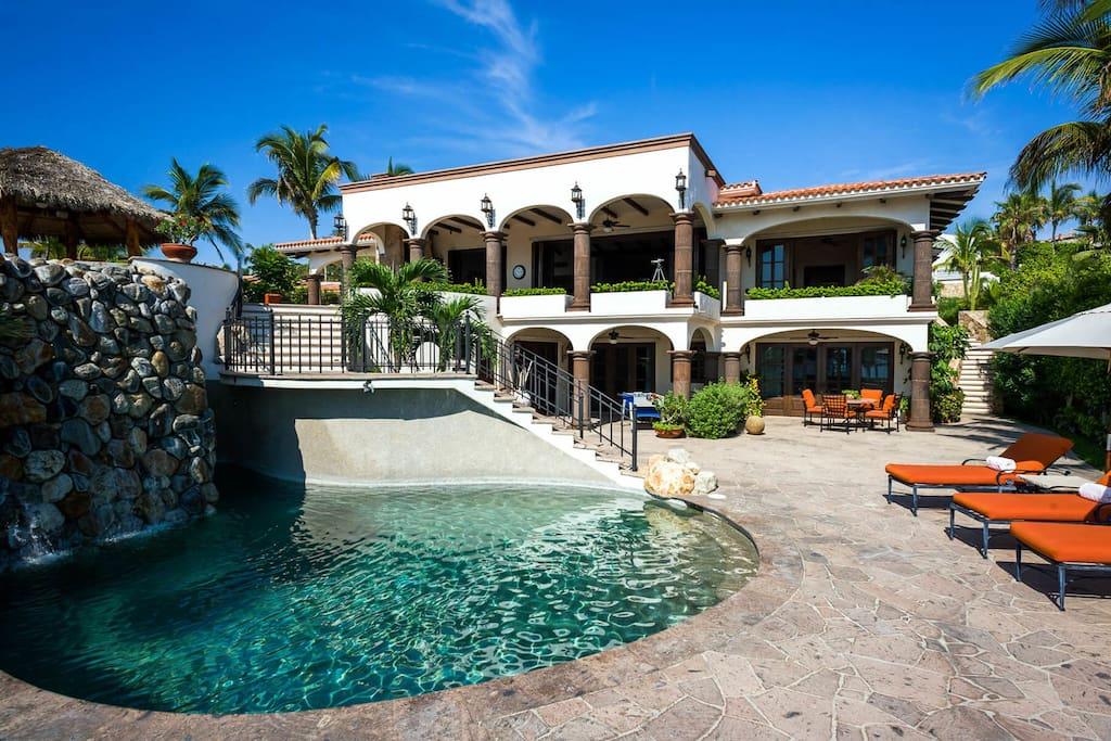Casa Alegria also features a two pools, so there's more than enough space for all your guests to enjoy a swim.