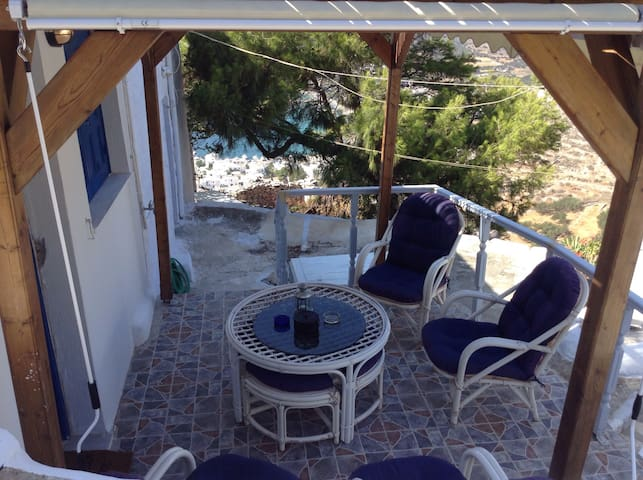 traditional house with great view in potamos! - Aegiali - Rumah