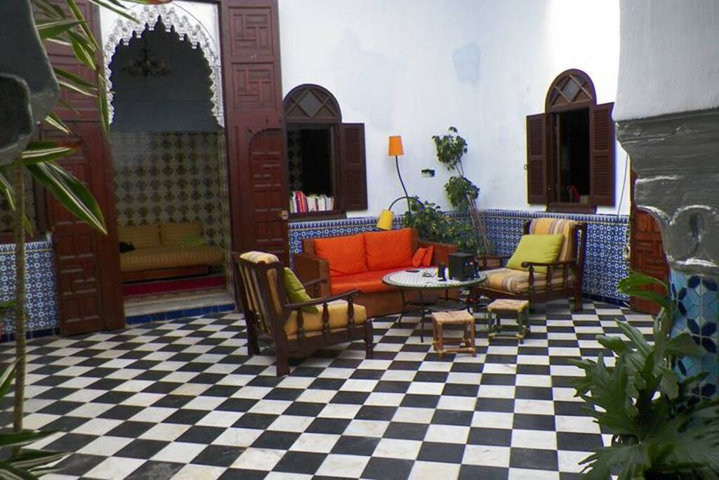 Le patio, centre du riad