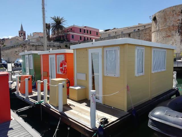 House Boat Aquatica Marina Alghero Green