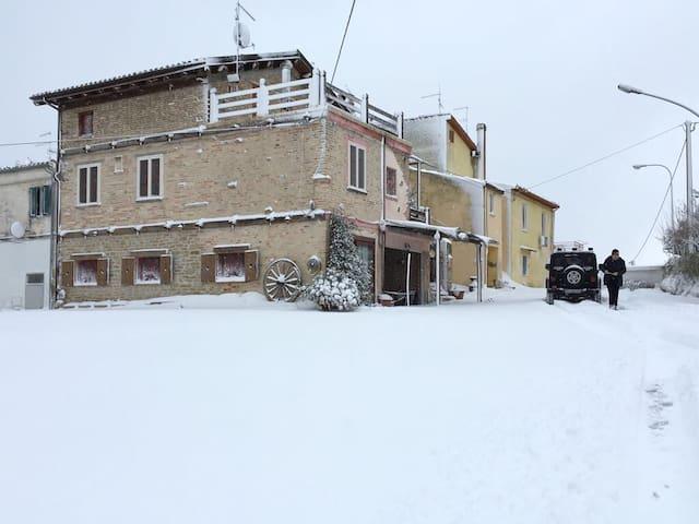Casale rustico a tre piani - San Pellegrino - วิลล่า