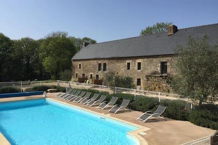 Cottage 40m² terrasse ,piscine chauffée,mer à 800m - Belz - Natuur/eco-lodge