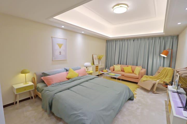 桂城/千灯湖站/北欧温馨大床房(暖气)