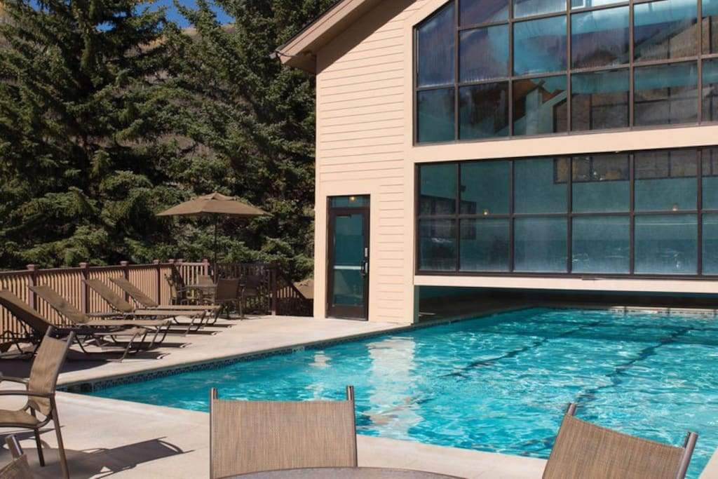 Indoor/Outdoor pool at the Clubhouse