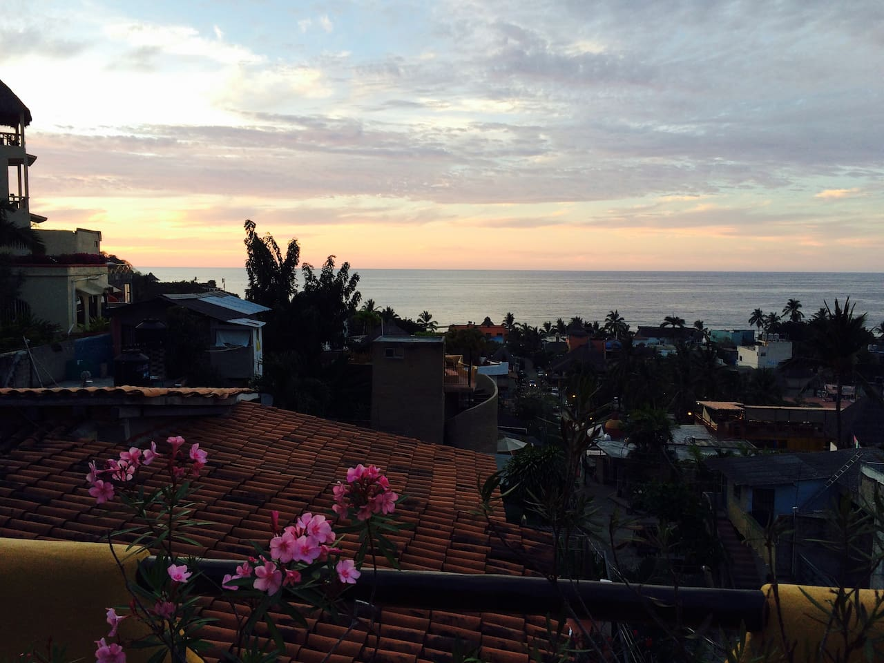 View of Sayulita from your covered patio and indoor outdoor living space with a Weber gas grill to fix a fine meal
