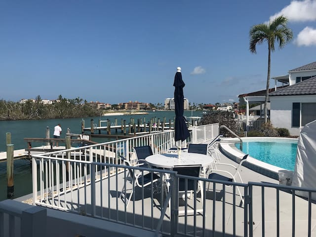 Intercoastal Water Views Amazing! View from livingroom and kitchen of your private patio.