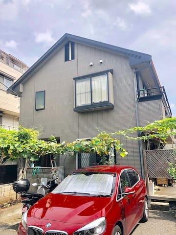 新宿附近桜上水站温馨别墅民宿A