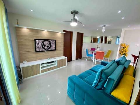 Confortável e aconchegante apartamento 2 quartos