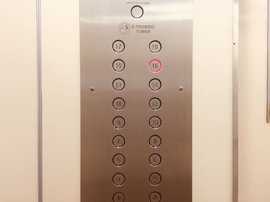 The apartment is on the 16th floor with 2 elevators