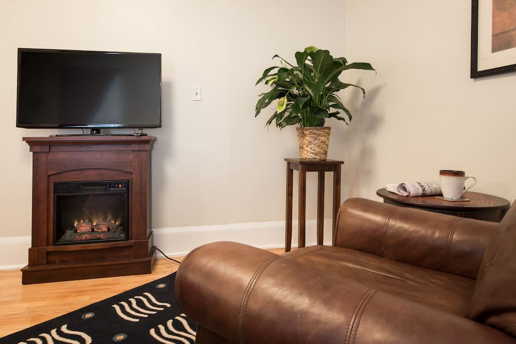 Electric fireplace provides nice ambience in Minnesota