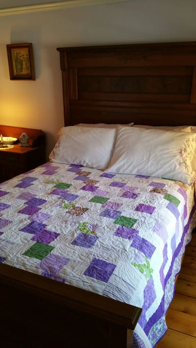 The quilt was made by your host Brendan.