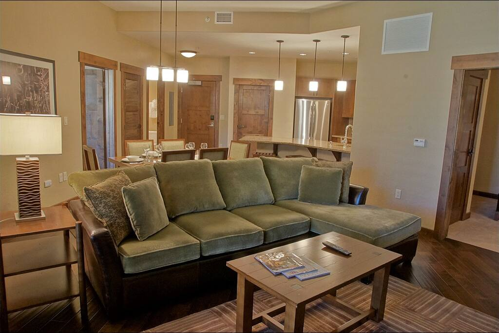 Comfy and Spacious open concept Living Area