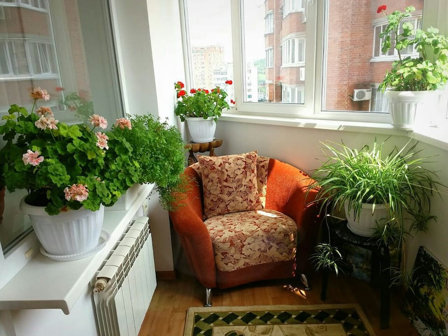 Light cozy balcony