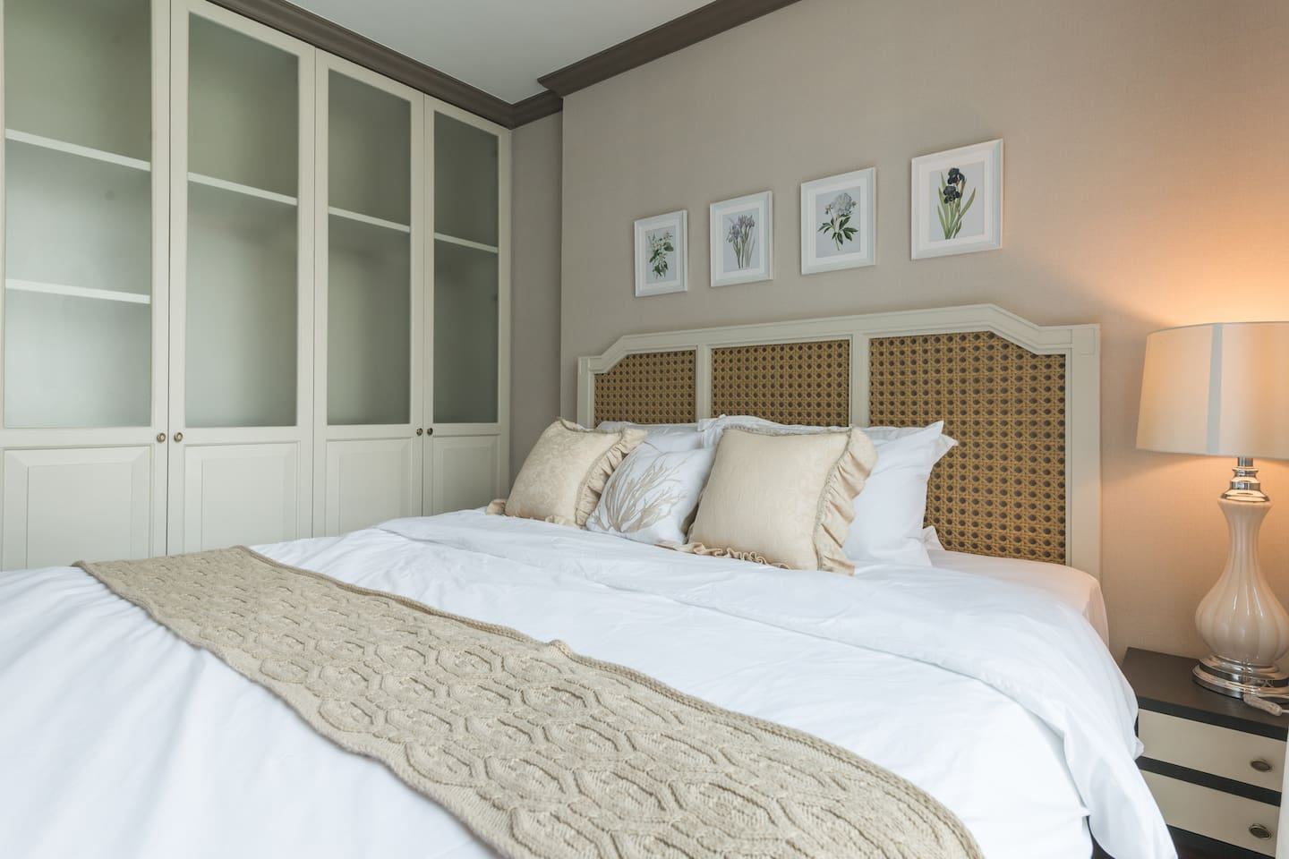 Classic master bedroom with a king-size bed