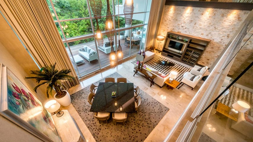 Living Room Above View