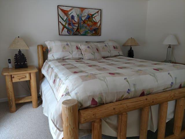 CalKing Log bed in Master
