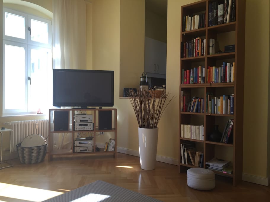 Digital TV and lots of books