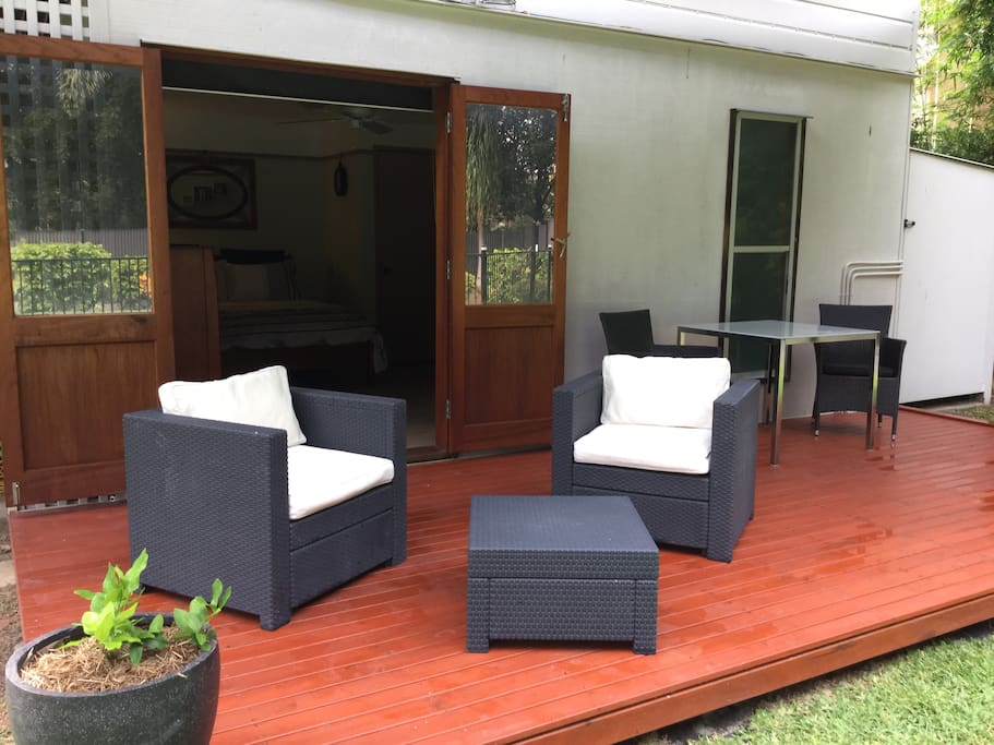 Double doors from your room to own decking