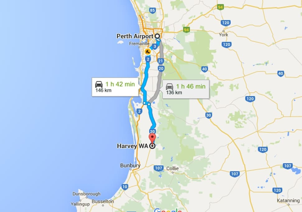 Westernlea Stayz only 1.45 hours drive from Perth CBD