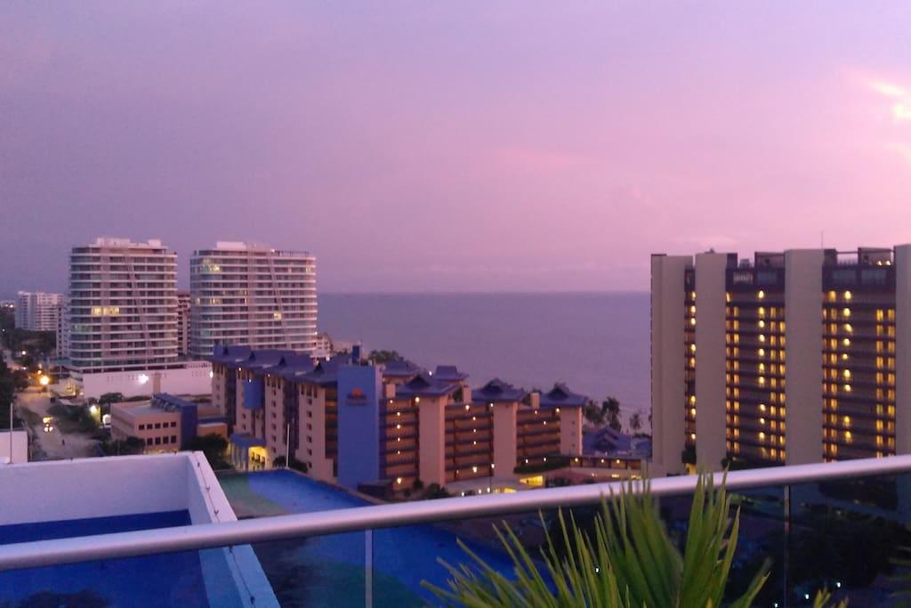 Hermosa vista desde la terraza del edificio