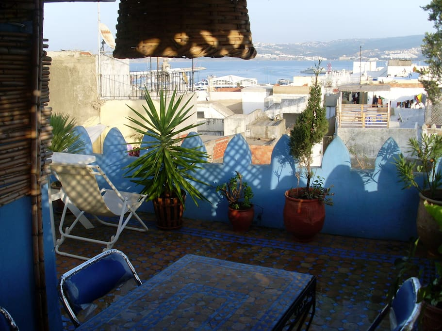Roof terrace with beautiful view of the sea