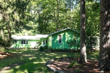 Cute Sawyer Cottage on Wooded Lot #pineafterpine - Ház