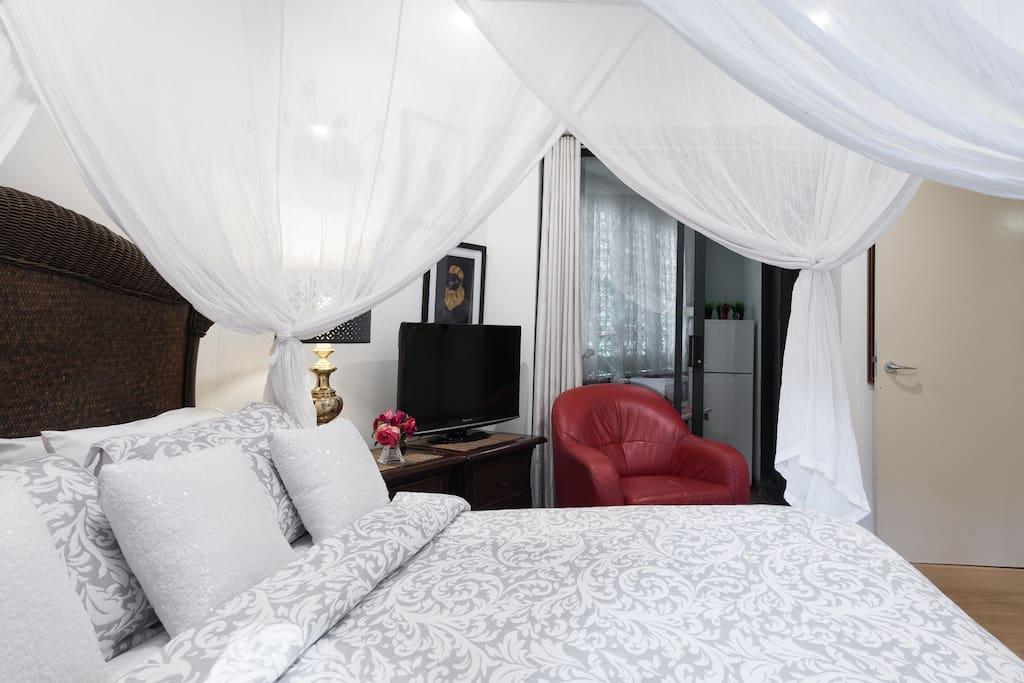 Breakfast nook adjoins your bedroom