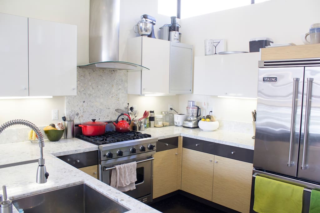 Level 3: The kitchen which guests are welcome to use.