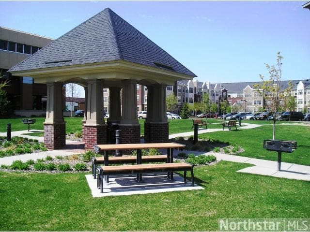 Community green space with grills