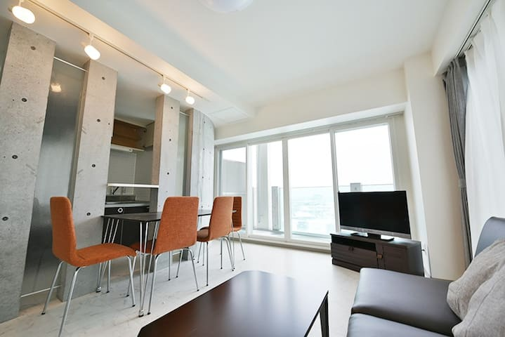 (0592)Stylish apartment 5min by car from Otaru Sta - Otaru-shi - Apartamento