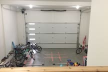 Store your bikes, skis, snowmobiles, boat in the oversized garage