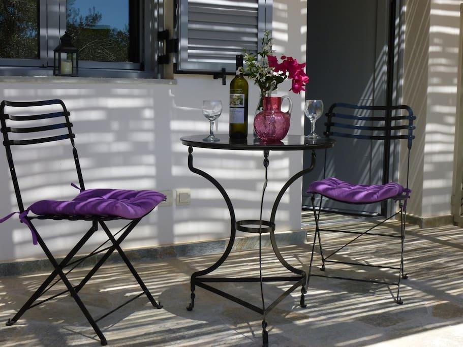 A private terrace outside Helios studio