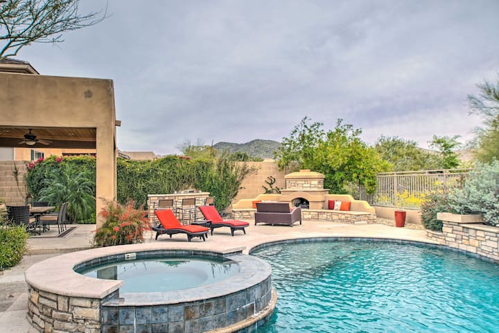 NEW! Luxe McDowell Mtn Retreat w/ Pool, Spa+Patio!