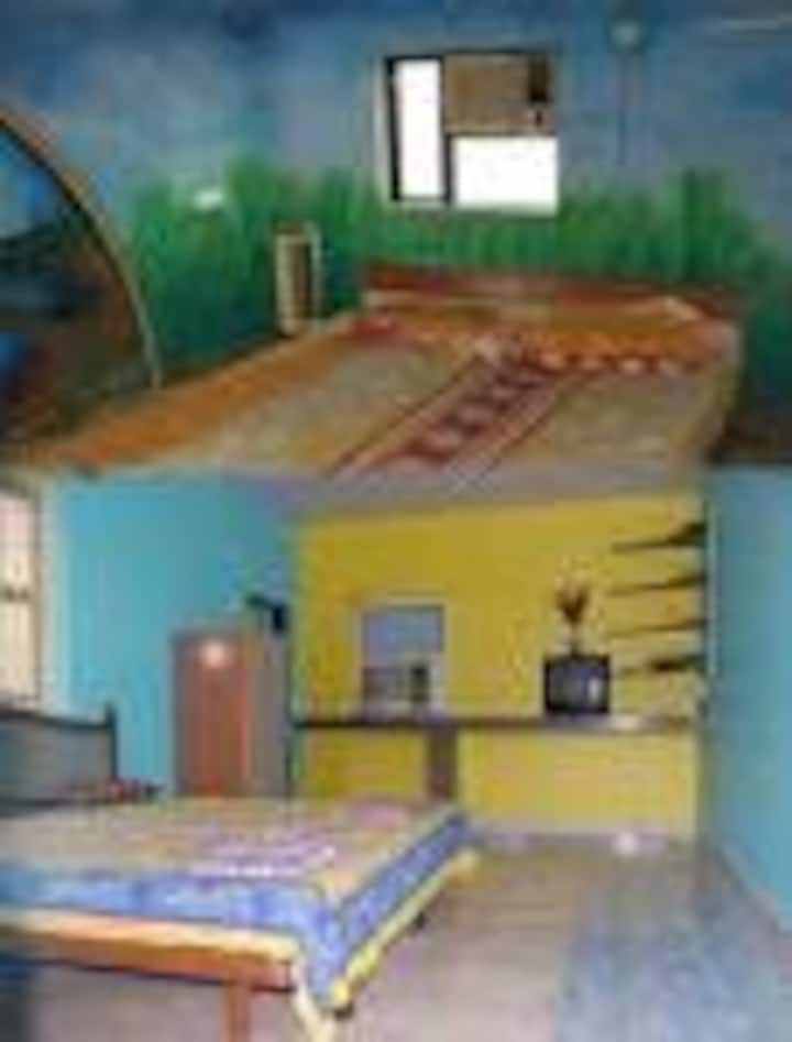 Yellow House with 1st Floor AC Room