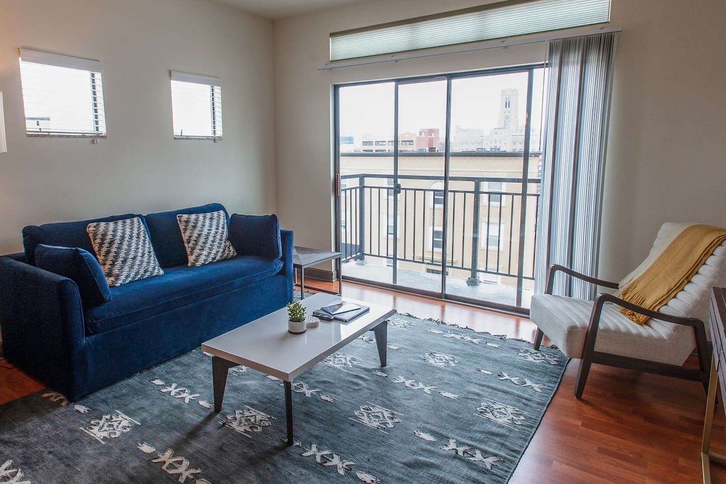 Welcome to your 2 bed apartment in downtown Indy!