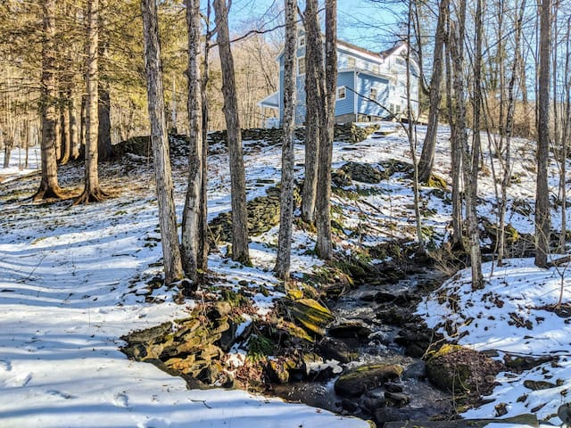 Babbling Brook, close to ski, venues and town.