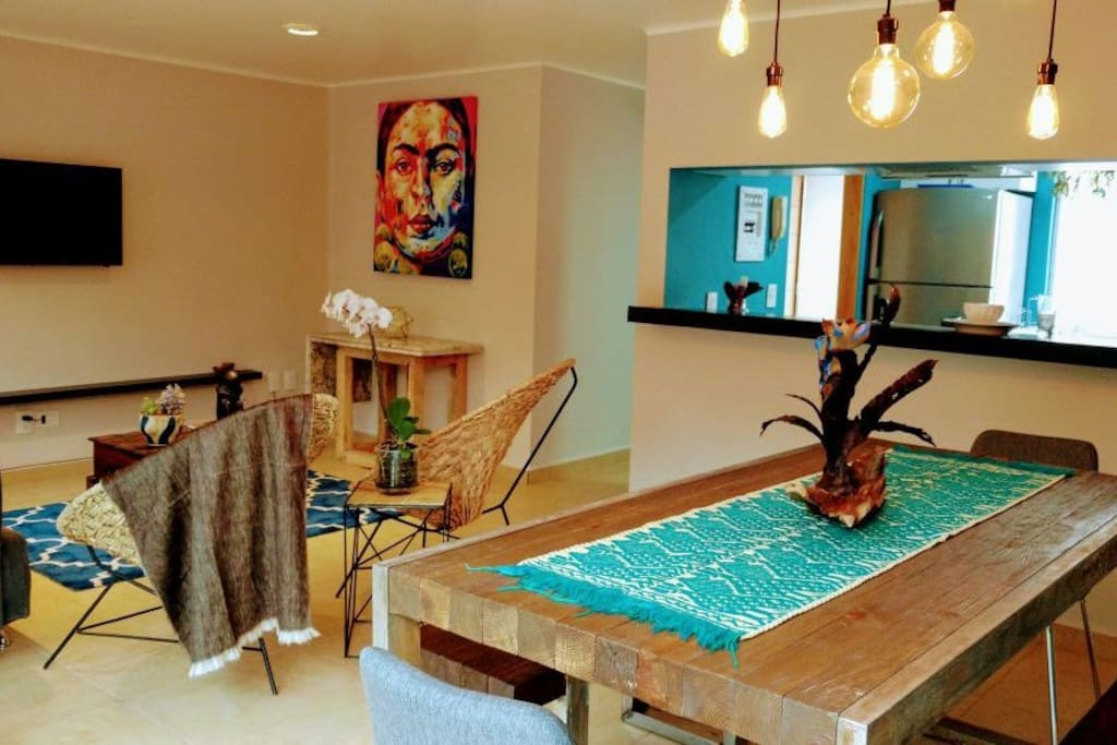 Living area/ dining room.