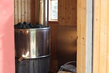 Sauna 5 meter från bryggan