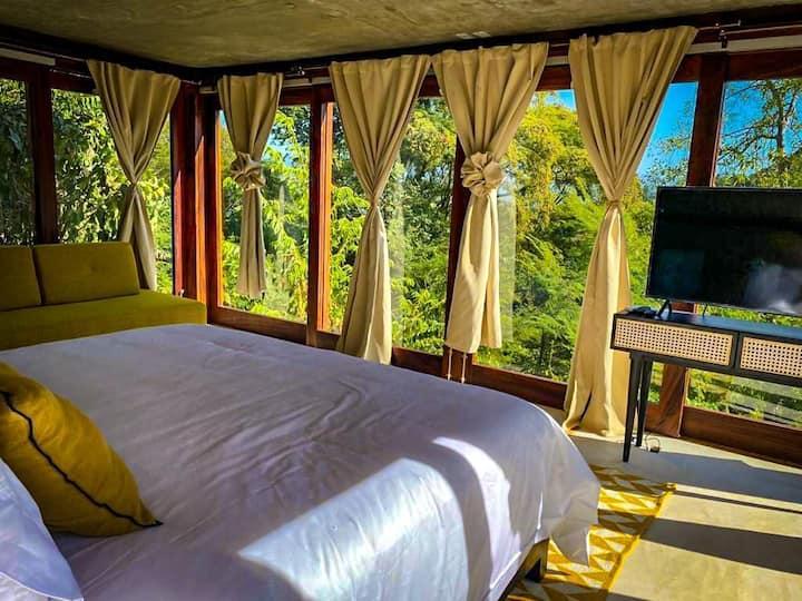 Hermosa Suite, 2 huéspedes, vista al mar y  selva