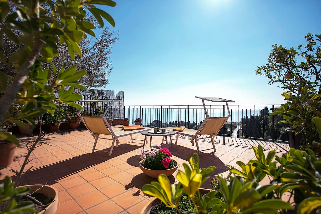Soak up the sun on your private terrace