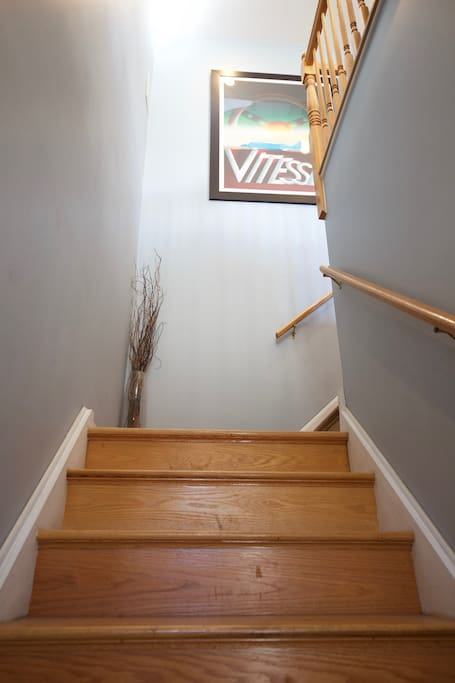 Stairs to your unit.