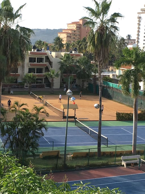 For those who want more than just a view, the coveted clay courts are available without extra charge.