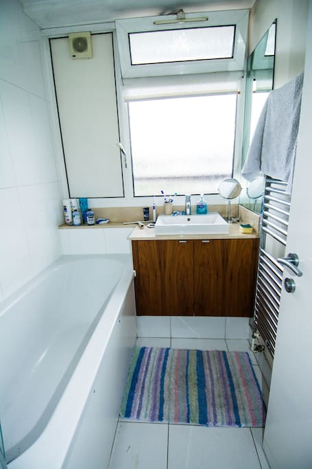 Bathroom with separate toilet room