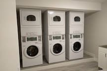 Onsite laundry on the first floor. Coin operated machines.
