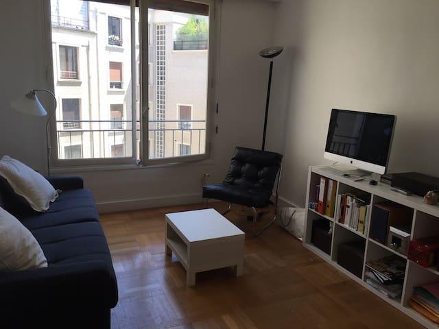 Grand studio, Paris 16, calme et très fonctionnel